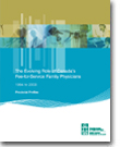 The Evolving Role of Canada's Fee for Service Family Physicians 1994 to 2003: Provincial Profiles